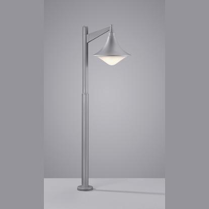 led aussen stehlampe laterne titanfarben. Black Bedroom Furniture Sets. Home Design Ideas